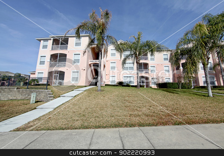Condos stock photo, A condo unit in Florida with Palm Trees by Lucy Clark