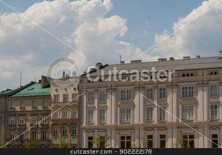 Beautiful facade of old town house in Krakow, Poland stock photo, Beautiful facade of old town house in Krakow, Poland by Andrey Starostin