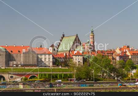 Warsaw, Poland. Old Town - famous Royal Castle. UNESCO World Her stock photo, Warsaw, Poland. Old Town - famous Royal Castle. UNESCO World Heritage Site. by Andrey Starostin