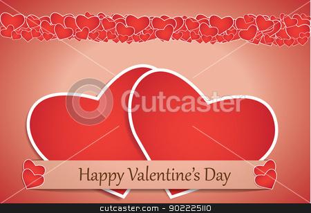 Valentine's Day card - EPS10  stock vector clipart, Valentines day card with paper heart, vector background eps 10  by Iryna Rasko