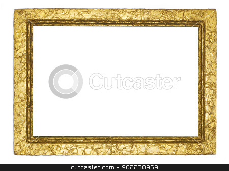 frame stock photo, Picture gold frame with a decorative pattern by Vitaliy Pakhnyushchyy