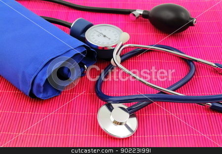 Medical sphygmomanometer, tensiometer. stock photo, Medical sphygmomanometer, tensiometer, blood pressure measuring. by MarcinSl1987