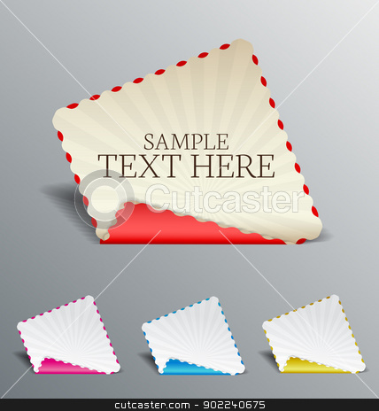 banners stock vector clipart, set banners with place for text by Miroslava Hlavacova