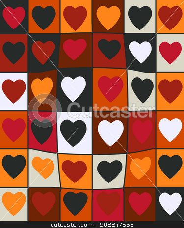 Valentine day pattern stock vector clipart, Background pattern for Valentine Day  by Richard Laschon