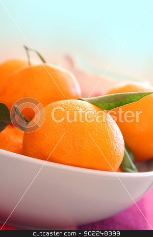 Ripe clementines in the bowl, close up  stock photo, Ripe clementines in the bowl, close up  by Juliet Photography