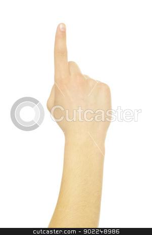 hand  stock photo, hand gestures isolated on a white  by Vitaliy Pakhnyushchyy
