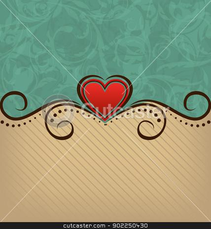 Valentine Day retro elegance background  stock vector clipart, Illustration Valentine Day retro elegance background - vector by -=Mad Dog=-