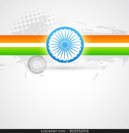 indian flag design stock vector clipart, Indian flag vector design art by pinnacleanimates