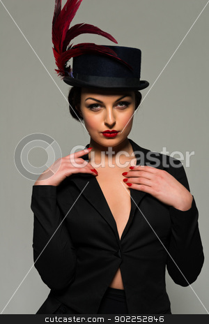 Ukrainian stock photo, Beautiful young Ukrainian woman dressed in black by Harris Shiffman