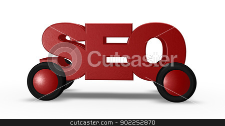 seo on wheels stock photo, letters seo on wheels - 3d illustration by J?