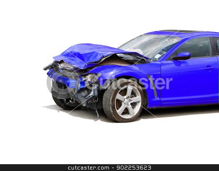 wreck stock photo, auto accident truck hit right front                        by Vitaliy Pakhnyushchyy