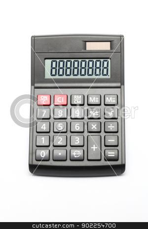 Calculator stock photo, Black Calculator on white background by Vichaya Kiatying-Angsulee