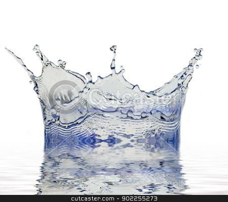 splash of water stock photo, Sparks of blue water on a white background by Vitaliy Pakhnyushchyy