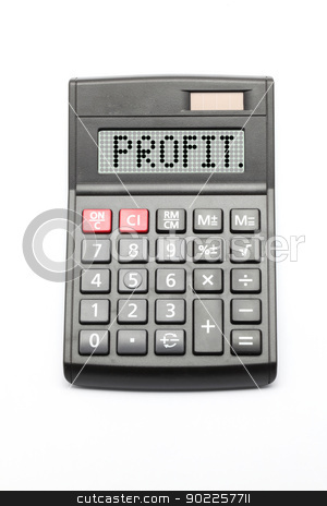 Business Profit stock photo, Business Profit Calculator on white background by Vichaya Kiatying-Angsulee