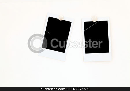 isolated two blank polaroids frames stock photo, isolated two blank polaroids frames by Vichaya Kiatying-Angsulee