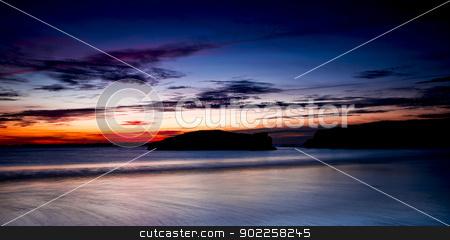 Beautiful south Europe beach stock photo, Beautiful sunset in a beach of south Europe by ikostudio