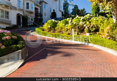 Lombard Street stock photo, Lombard Street in San Francisco, USA by Click Images
