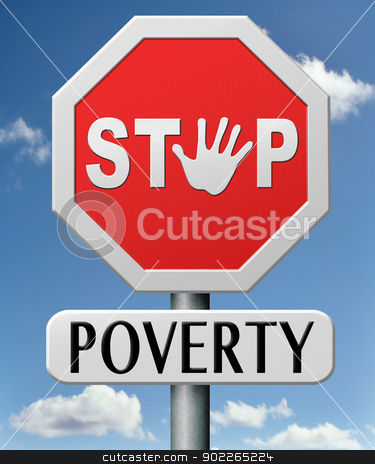 stop poverty stock photo, stop poverty by Dirk Ercken