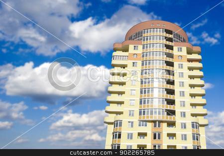 house on sky stock photo, A modern apartments building  by Vitaliy Pakhnyushchyy