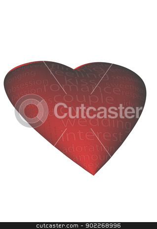 A heart shape and words stock photo, A heart shape with the word by Anatolii Vasilev