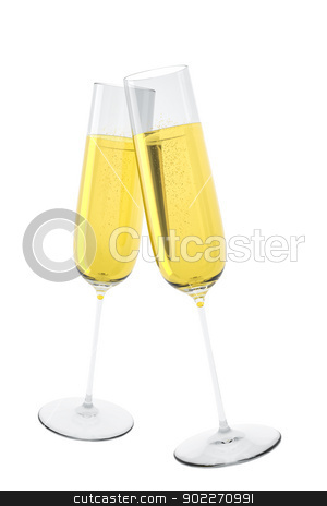 fizz glass stock photo, An image of two glasses of sparkling wine by Markus Gann