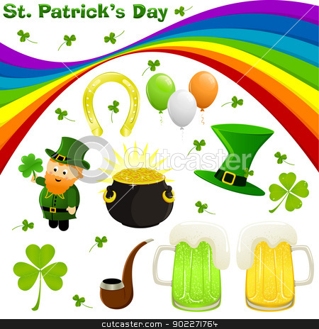 St. Patrick's Day stock vector clipart, Icon set for St. Patrick's Day by wingedcats