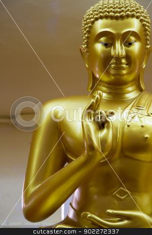 Buddha stock photo, Focus thumb hand of Buddha by narathorn