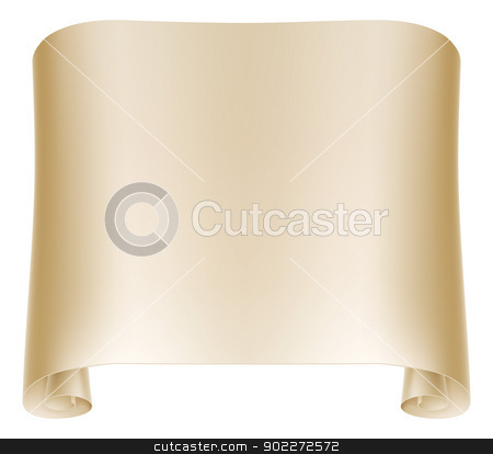 Paper Scroll Illustration stock vector clipart, Background illustration of an old rolled up paper scroll  by Christos Georghiou