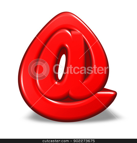 cartoon email symbol stock photo, cartoon email symbol on white background - 3d illustration by J?