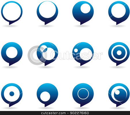 Stylized Speech Bubbles Icons stock vector clipart, Collection of abstract and styized speech bubble icons in different forms by HypnoCreative