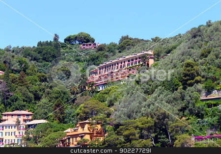 The Villa in the trees stock photo, Luxuy Hotel in a Villa in Portofino  by willeye