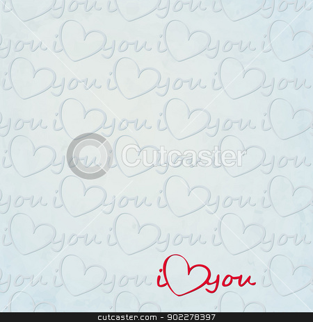 ily blue stock vector clipart, new seamless pattern with heart symbol can use like valentine day greeting wallpaper by metrue