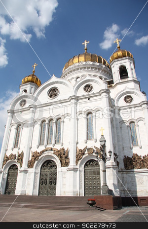 Cathedral of Jesus Christ the Savior in Moscow stock photo, The major Cathedral of Jesus Christ the Savior in Moscow, Russia by Yulia Zhukova