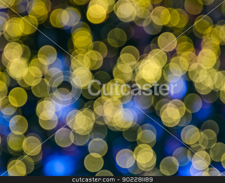 Abstract background stock photo, Abstract background of yellow bokeh by boonsom