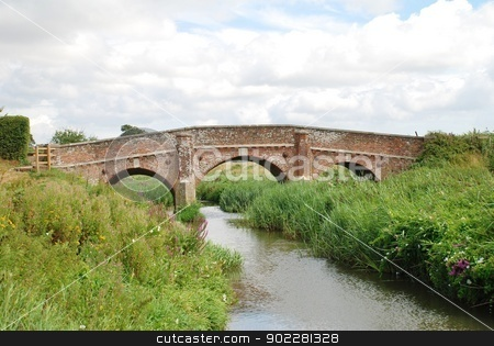 Bodiam bridge, England stock photo, The historic road bridge crossing the River Rother at Bodiam in East Sussex, England. The hump backed bridge was built in 1797. by newsfocus1