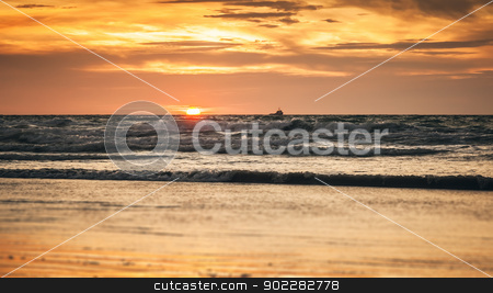 sunset background stock photo, An image of the nice sunset background by Markus Gann
