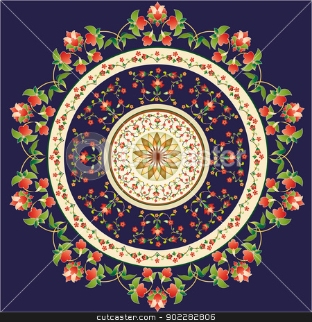 Oriantal Pattern stock vector clipart, Oriental Pattern and Ornaments by Sevgi Dal