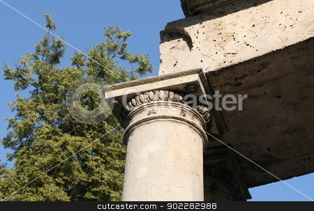 The ruins stock photo, The ruins of the Greek colonnade, of Apollo by mrivserg