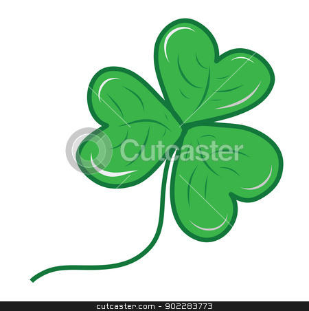 Clover leaf stock vector clipart, Clover leaf icon for St. Patrick day and Irich national day by Vichaya Kiatying-Angsulee