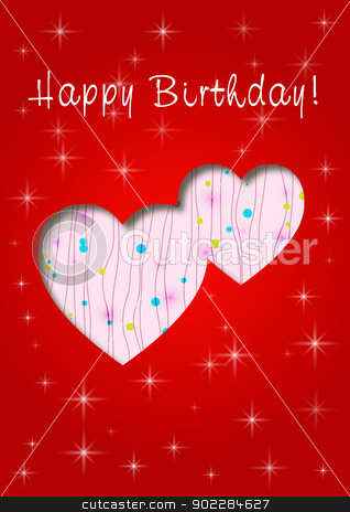 happy birthday card stock vector clipart, Happy Birthday with love by byman designs