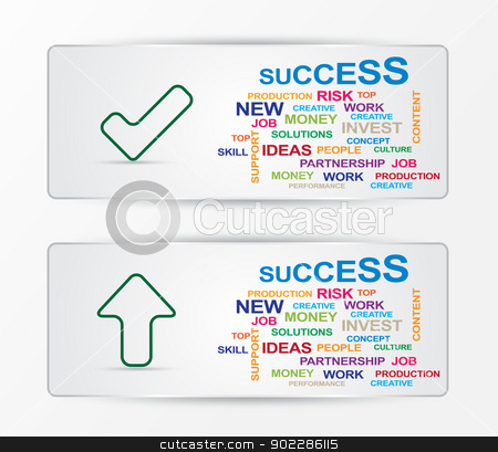 success card stock vector clipart, success sample card by byman designs