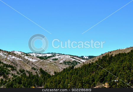 Black hills and sky background stock photo, Black hills and sky background by Liane Harrold