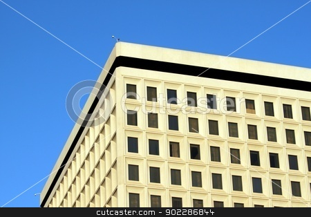 Office Building stock photo, An old office building on down town Los Angeles by Henrik Lehnerer