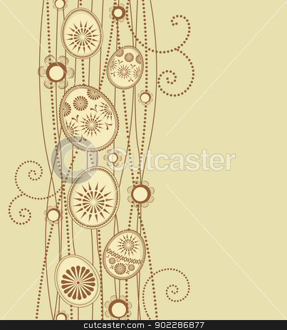 Easter eggs stock vector clipart,  Easter eggs decoration on light brown background by Miroslava Hlavacova