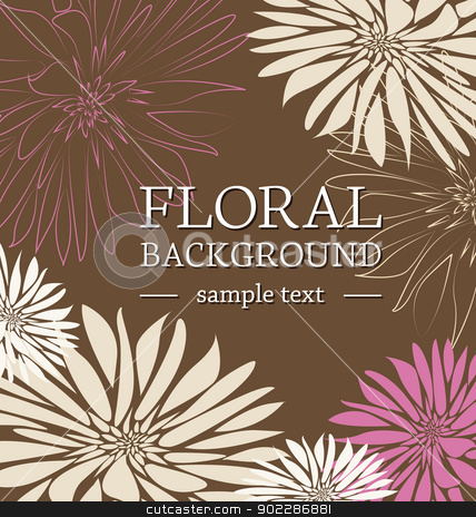 floral background stock vector clipart, greeting card floral with place for text by Miroslava Hlavacova