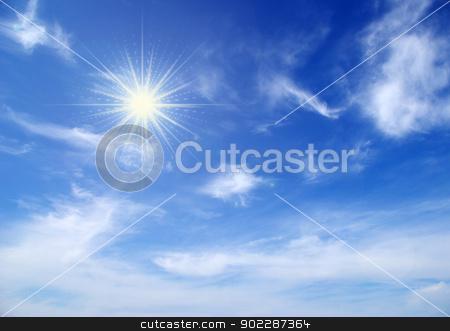 sky  stock photo, sunny sky background whith  clouds by Vitaliy Pakhnyushchyy