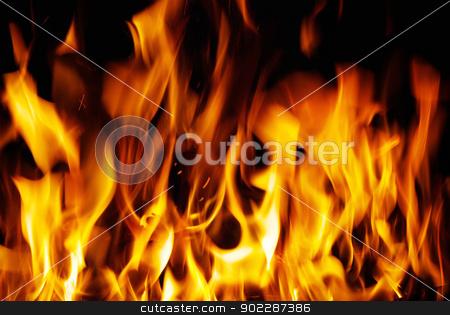 fire  stock photo, A nice fire in a fire place   by Vitaliy Pakhnyushchyy