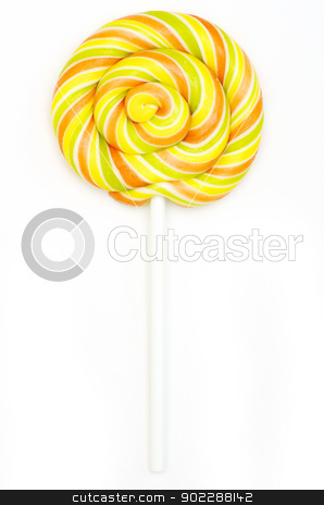 colorful spiral lollipop  stock photo, Colorful spiral lollipop isolated on white background by Vitaliy Pakhnyushchyy