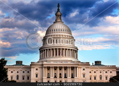 US Capitol Dome Houses of Congress Washington DC stock photo, US Capitol Dome Houses of Congress Washington DC by William Perry