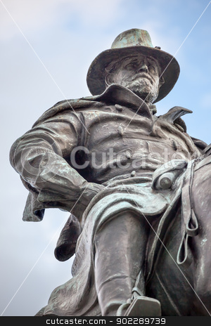 US Grant Statue Civil War Memorial Capitol Hill Washington DC stock photo, Ulysses US Grant Statue Civil War Memorial Capitol Hill Washington DC.  Created by Henry Shrady and dedicated in 1922.  Grant is riding Cincinnati, his famous horse.   by William Perry